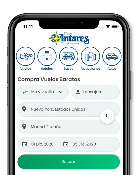 App Viajes Antares